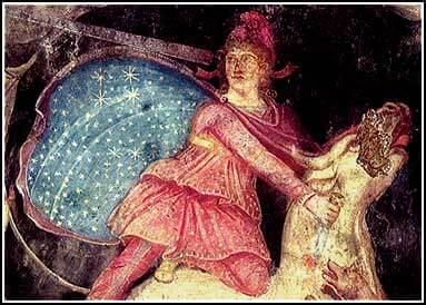 The God Mithras killing the Bull